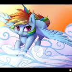 2015 captainpudgemuffin cute equine female feral flying friendship_is_magic mammal my_little_pony pegasus pink_eyes rainbow_dash_(mlp) smile solo wings   Rating: Safe  Score: 16  User: Robinebra  Date: February 23, 2015