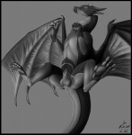 absurd_res anus balls dragon evalion feral fully_sheathed greyscale hi_res hindpaw looking_at_viewer male membranous_wings mirage monochrome pawpads paws scalie sheath solo spread_legs spreading wings  Rating: Explicit Score: 35 User: Evalion Date: July 11, 2013