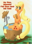 anthrofied applejack_(mlp) blonde_hair breasts butt equine female freckles friendship_is_magic green_eyes hair hentai_boy horse my_little_pony nipples nude pony side_boob solo   Rating: Questionable  Score: 1  User: Hentai_Boy  Date: May 02, 2011