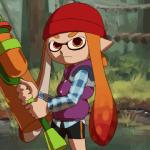 """animated beanie close-up clothing fangs female hair hat humanoid inkling jeremiah_johnson_(film) nintendo nodding open_mouth orange_eyes orange_hair paint_roller parody pointy_ears smile solo source_request splatoon teeth tentacle_hair tentacles unknown_artist vest video_games young  Rating: Safe Score: 14 User: ROTHY Date: June 09, 2015"""""""