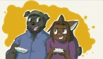 :d anthro arin_hanson beard canine cat controller cute dog duo facial_hair feline game_grumps happy hat hug jon_jafari kitty-snake male mammal nintendo open_mouth smile teeth tongue video_games whiskers wii wii_remote  Rating: Safe Score: 1 User: Conker Date: January 02, 2013""