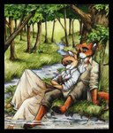 ainessa's_martyrs anthro canine couple creek duo female forest fox fox_keegan male male/female mammal nature outside tracy_j_butler tree water wood   Rating: Safe  Score: 1  User: The Dog In Your Guitar  Date: March 01, 2007