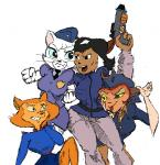 akunim black_and_white capcom captain_amelia cat crossover crossovers felina_feral feline female genosaurer_(colors) group gun handgun katy_o'kitty king_of_fighters mammal monochrome pamela_bondani parody patrol_03 pistol police ranged_weapon snk street_fighter swat_kats tom_and_jerry treasure_planet video_games weapon  Rating: Safe Score: 0 User: metalslayer777 Date: July 24, 2015