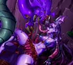 2016 absurd_res areola belt blue_hair blue_nipples breasts camel_toe claws clothed clothing demon fangs female fingerless_gloves gloves hair hi_res humanoid jinx_(lol) league_of_legends long_hair monster navel nipples orange_eyes penis pointy_ears purple_hair purple_skin saliva shorts signhereplease spikes teeth thick_thighs tongue tongue_out topless video_games yellow_eyes  Rating: Questionable Score: 2 User: Fur_in_the_dark Date: July 30, 2016