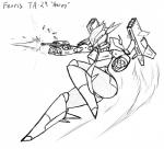 android armor battle bullet female fight flying gun jeffthehusky jet_pack machine mecha not_furry ranged_weapon robot science_fiction text thick_thighs weapon