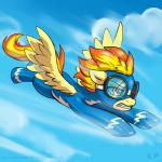 2015 bodysuit clenched_teeth clothing cloud equine eyewear feathered_wings feathers female feral flying friendship_is_magic goggles karol_pawlinski mammal my_little_pony pegasus signature skinsuit solo spitfire_(mlp) teeth wings wonderbolts_(mlp)  Rating: Safe Score: 11 User: Robinebra Date: June 29, 2015