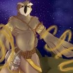 avian bird book bunnylace clothed clothing desert half-dressed magic male outside owl solo space star topless  Rating: Safe Score: 1 User: bunnylace Date: November 09, 2015