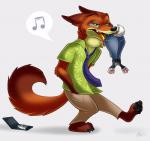 anthro badge canine character_from_animated_feature_film disney duo fox fuck_the_police green_eyes judy_hopps lagomorph male mammal nick_wilde rabbit soft_vore theothefox vore zootopia  Rating: Safe Score: 5 User: Pangur Date: June 12, 2015