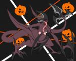 absurd_res big_breasts breasts demone dryadex eyeless female halloween hi_res holidays horn long_tongue monster monster_girl pumpkin tongue  Rating: Questionable Score: 3 User: Dryadex Date: November 01, 2015