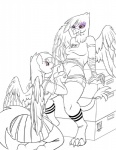 2014 anthro anthrofied avian ball_fondling balls beak claws clothing dickgirl dickgirl/female digital_drawing_(artwork) duo equine female friendship_is_magic gilda_(mlp) gryphon hair intersex intersex/female kneeling line_art mammal my_little_pony open_mouth pegasus penis rainbow_dash_(mlp) toe_claws wings zwitterkitsune   Rating: Explicit  Score: 12  User: lemongrab  Date: December 11, 2014