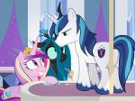 2015 changeling dm29 drink equine female feral friendship_is_magic group horn husband_and_wife male mammal my_little_pony princess_cadance_(mlp) queen_chrysalis_(mlp) shining_armor_(mlp) unicorn winged_unicorn wings   Rating: Safe  Score: 15  User: Robinebra  Date: January 26, 2015