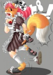 anthro canine clothing edmol female fox maid maid_uniform mammal paws slippers socks solo teeth transformation underwear   Rating: Safe  Score: 5  User: PheagleAdler  Date: March 20, 2012