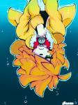 2015 <3 anthro blonde_hair canine clothed clothing collar digital_media_(artwork) dog front_view fur hair inuki_zu inuzu male mammal underwater upside_down water white_fur  Rating: Safe Score: 2 User: InuzuArtist Date: October 01, 2015