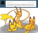 anthro blush cum cum_in_pussy cum_inside female group lying male male/female mammal mouse nintendo penetration pikachu plain_background pokémon pussy raichu rodent sex tumblr video_games whimsydreams   Rating: Explicit  Score: 11  User: DefinitelyNotAFurry  Date: March 25, 2015