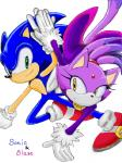 anthro blaze_the_cat blue_fur cat duo feline female fur green_eyes hedgehog male mammal purple_fur sonic_(series) sonic_(sonic) yellow_eyes  Rating: Safe Score: 2 User: Rad_Dudesman Date: October 01, 2014