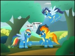 2011 blue_feathers blue_fur blue_hair bodysuit clothing equine feathers female feral friendship_is_magic fur group hair male mammal multicolored_hair my_little_pony pegasus rainbow_dash_(mlp) rainbow_hair skinsuit soarin_(mlp) spitfire_(mlp) toxic-mario tree wings wonderbolts_(mlp) wood yellow_feathers yellow_fur  Rating: Safe Score: 1 User: Granberia Date: July 07, 2013