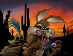 absurd_res anthro avian bird blood bone canine claws coyote death eyeball gore hi_res labrenzink looney_tunes male mammal roadrunner roadrunner_(looney_tunes) teeth warner_brothers wile_e._coyote  Rating: Questionable Score: 6 User: JennaLovesKate Date: December 09, 2013