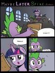 2014 absurd_res book comic dragon duo equine female feral friendship_is_magic fur hair hi_res horn horse magic mammal my_little_pony pony princess purple_eyes purple_fur purple_hair redapropos royalty spike_(mlp) text twilight_sparkle_(mlp) window winged_unicorn wings   Rating: Safe  Score: 9  User: EurynomeEclipseVII  Date: May 07, 2014