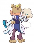 3_toes ai_(tetris) anthro barefoot beady_eyes blonde_hair boots bridal_carry canine carrying clothing dog footwear gloves hair hybrid lab_coat male male/male mammal pendulum puyo_puyo puyo_puyo_tetris risukuma scarf spectacles teal_eyes tetris toes white_glovesRating: SafeScore: 5User: Sinking_StoneDate: June 24, 2017