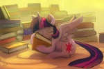 2013 book cutie_mark equine eyes_closed female feral friendship_is_magic hair horn horse hug lying multi-colored_hair my_little_pony pony purple_hair raikoh-illust solo twilight_sparkle_(mlp) winged_unicorn wings   Rating: Safe  Score: 8  User: 2DUK  Date: July 18, 2013