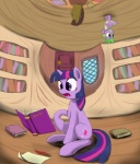 2012 book cub cutie_mark dragon duo english_text equine feathers female feral friendship_is_magic fur green_eyes hair hi_res horn inside loose_feather male mammal multicolored_hair my_little_pony otakuap paper purple_eyes purple_fur purple_scales quill scalie spike_(mlp) text twilight_sparkle_(mlp) two_tone_hair unicorn wood young  Rating: Safe Score: 8 User: Granberia Date: January 02, 2013