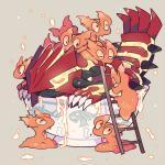 ambiguous_gender bowl feral groudon group height_assist humor kyogre ladder legendary_pokémon nintendo pokémon primal_groudon pun size_difference slugma soup video_games visual_pun のRating: SafeScore: 13User: Rad_DudesmanDate: March 22, 2016