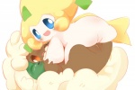 blush butt cute duo edit female female/female feral humanoid jirachi legendary_pokémon looking_at_viewer looking_back mikokami nintendo pokémon pussy sex simple_background smile tears tribadism uncensored video_games whimsicott white_background