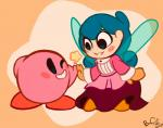 ambiguous_gender clothing dress fairy female green_eyes high_five humanoid insect_wings kirby kirby_(series) nintendo not_furry one_eye_closed open_mouth open_smile orange_background rosy_cheeks screeadee simple_background smile star vamella_(screeadee) video_games waddling_head wings winkRating: SafeScore: 0User: Furrin_GokDate: May 28, 2017