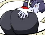 big_butt blue_hair blue_skin bluevp bone butt butt_grab clothing female hair huge_butt plain_background presenting presenting_hindquarters red_eyes skullgirls squigly undead white_background zombie   Rating: Questionable  Score: 5  User: ROTHY  Date: February 09, 2014