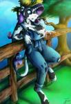 2015 anthro anthrofied areola big_breasts blue_eyes bovine breasts cattle clothed clothing ear_tag equine female fence friendship_is_magic hair hat hooves horn hybrid james_corck lactating long_hair mammal milk my_little_pony nipples outside purple_hair rarity_(mlp) solo torn_clothing tree unicorn wardrobe_malfunction  Rating: Questionable Score: 2 User: lemongrab Date: July 31, 2015