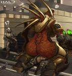 alien armor big_dom_small_sub butt da_polar_inc female female_on_top halo_(series) human hunter larger_female mammal mgalekgolo odst on_top outdoor_sex size_difference soldier surprise video_games weapon worms  Rating: Explicit Score: 27 User: Acolyte Date: September 08, 2015