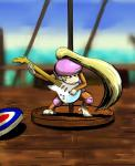 """5_toes barefoot blonde_hair brown_fur clothing cloud dixie_kong donkey_kong_(series) female fur guitar hair hat long_hair mammal monkey musical_instrument nintendo ponytail primate sea solo toes unknown_artist video_games water  Rating: Safe Score: 2 User: Cαnε751 Date: April 10, 2015"""""""