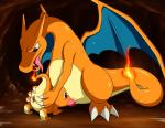 2014 blue_eyes blush cave charizard charmander claws dancingchar dragon duo fellatio female feral feral_on_feral fire fire_breathing hi_res inside male male/female nintendo oral orange_body penis pokémon pussy scalie sex size_difference toe_claws tongue tongue_out video_games wings   Rating: Explicit  Score: 11  User: Mienshao  Date: September 03, 2014