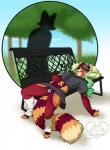 anthro camel_toe clothed clothing duo female kittydee lying mammal on_back open_mouth outside red_panda silhouette sleeping solo_focusRating: QuestionableScore: 3User: Cat-in-FlightDate: April 29, 2017