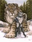 absurd_res ambiguous_gender anthro areola barefoot biped black_clothing breasts brown_fur claws clothed clothing dark_natasha detailed_background digitigrade duo ear_piercing ear_tuft edit fangs feline female feral forest fur giant grey_fur grey_hair hair half-dressed hi_res hindpaw leg_grab loincloth long_hair looking_at_viewer lynx mammal mullet nature navel navel_piercing necklace nipples nude outside painting_(artwork) paws piercing plant quadruped rock saber-toothed_cat sabertooth_(feature) scan scar scenery short_tail size_difference sky smaller_female snow spots spotted_fur standing striped_fur stripes topless traditional_media_(artwork) tree tuft whiskers white_fur wood  Rating: Questionable Score: 44 User: purple.beastie Date: September 08, 2015