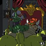 balls bound bowser bracelet breasts cackletta collar darkboss digital_media_(artwork) duo_focus fawful female forced frogtied group hi_res jewelry koopa legs_tied male male/female mario_bros nintendo penis pussy rape scalie spike_collar video_games  Rating: Explicit Score: 7 User: WhiteWhiskey Date: January 15, 2016