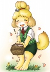 animal_crossing blonde_hair canine dog eyes_closed female fur hair isabelle_(animal_crossing) kemono mammal nintendo open_mouth setouchi_kurage solo video_games yellow_fur  Rating: Safe Score: 6 User: KemonoLover96 Date: June 30, 2015""