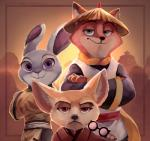 2016 abstract_background anthro border brown_eyes canine chinese_clothing claws clothing crossed_arms crossover digital_media_(artwork) disney eyewear facial_hair female fennec finnick fox frown fur glasses green_eyes group inner_ear_fluff japanese_clothing judy_hopps kimono kung_fu_panda lagomorph long_ears looking_at_viewer male mammal mustache nick_wilde purple_eyes rabbit size_difference smile tragobear zootopia  Rating: Safe Score: 22 User: Vallizo Date: April 14, 2016