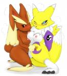 2014 a.k.o.t. anthro barefoot blush breasts canine crossover digimon duo eyelashes female fox fur happy lagomorph long_ears looking_at_viewer lopunny mammal nintendo nipples one_eye_closed open_mouth pawpads paws pokémon rabbit renamon smile squint sweat tongue video_games white_fur yellow_fur  Rating: Questionable Score: 10 User: WiiFitTrainer Date: May 23, 2014