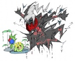 ambiguous_gender blood darkrai kyounoikenie legendary_pokémon nintendo piercing pokémon roselia skiploom video_games   Rating: Safe  Score: 0  User: robyn_chaos  Date: August 12, 2010