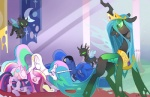2016 ass_up blue_fur blue_hair blush bowing changeling crown cutie_mark equine eyes_closed feathered_wings feathers female feral friendship_is_magic frown fur glowing glowing_eyes green_eyes group hair horn long_hair looking_back mammal multicolored_hair my_little_pony parfywarfy_(artist) princess_cadance_(mlp) princess_celestia_(mlp) princess_luna_(mlp) purple_fur queen_chrysalis_(mlp) twilight_sparkle_(mlp) unicorn white_fur winged_unicorn wings  Rating: Safe Score: 14 User: QuetzalcoatlColorado Date: March 16, 2016