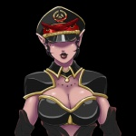 ant antennae armor arthropod black_lips breasts cleavage clothed clothing female hat insect jacques00 lips myr pointy_ears purple_skin solo trials_in_tainted_space  Rating: Safe Score: 4 User: Juni221 Date: February 20, 2015