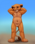 anthro cub disney feline female fur hands_behind_head lion looking_at_viewer navel nipples nude open_mouth pose pussy sarabi smile solo standing teeth the_lion_king young   Rating: Explicit  Score: 19  User: whowho  Date: September 02, 2013