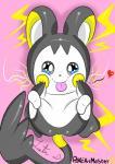 ambiguous_gender emolga feral nintendo pokeartmaster95 pokémon pokémon_(species) simple_background smile video_gamesRating: SafeScore: 1User: PokeArtMaster95Date: February 19, 2018