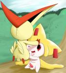 anus balls butt cub cum cum_in_mouth cum_inside fellatio jirachi legendary_pokémon male male/male nintendo oral penis pokémon pokémon_(species) sex tapering_penis victini video_games young yumeiRating: ExplicitScore: 9User: syrup9Date: February 05, 2018