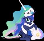 90sigma absurd_res alpha_channel blue_eyes blue_fur blue_hair cutie_mark duo equine female feral friendship_is_magic fur hair hi_res horn hug long_hair mammal multicolored_hair my_little_pony plain_background princess_celestia_(mlp) princess_luna_(mlp) purple_eyes smile transparent_background two_tone_hair white_fur winged_unicorn wings   Rating: Safe  Score: 4  User: Robinebra  Date: May 02, 2014