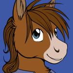 blue_eyes brown_fur brown_hair clothed clothing equine flat_colors fur hair horse male mammal peekaboo ratte smile solo   Rating: Safe  Score: 3  User: Peekaboo  Date: March 19, 2014