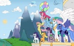 applejack_(mlp) armor balloon blonde_hair blue_eyes blue_hair cloud crown cub cutie_mark dragon earth_pony equine female feral fluttershy_(mlp) forest friendship_is_magic fur green_eyes group hair hat horn horse house long_hair male mammal mountain multicolored_hair my_little_pony outside pegasus pink_eyes pink_fur pink_hair pinkie_pie_(mlp) pony princess princess_celestia_(mlp) princess_luna_(mlp) purple_eyes purple_hair rainbow_dash_(mlp) rainbow_hair rarity_(mlp) royalty scalie short_hair sky spike_(mlp) sun tree twilight_sparkle_(mlp) unicorn valcron winged_unicorn wings wood young  Rating: Safe Score: 6 User: Princess_Luna Date: June 05, 2011