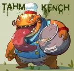 anthro catfish chef clothed clothing demon fish food hat joebluefox league_of_legends male marine necktie open_mouth sharp_teeth solo tahm_kench_(lol) teeth tentacles tongue tongue_out video_games  Rating: Safe Score: 0 User: digiangel234 Date: April 06, 2016