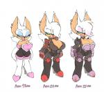 age_progression big_breasts bigdad breasts chiropteran clothing english_text eyeshadow female hair hair_over_eye high_heeled_boots jacket lipstick looking_at_viewer makeup mammal rouge_the_bat smile solo sonic_(series) textRating: SafeScore: 35User: SinnachDate: January 14, 2019